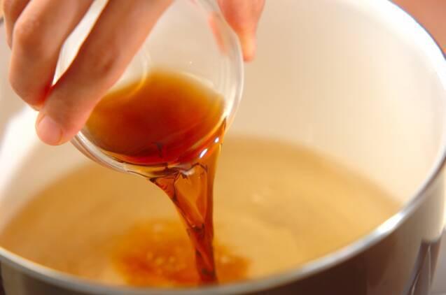 天かすとワカメの汁の作り方の手順2