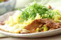豚バラ肉の卵とじ