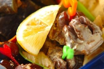 砂肝とセロリのマヨ炒め