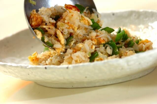 ピーマンとジャコの炒飯の作り方の手順3
