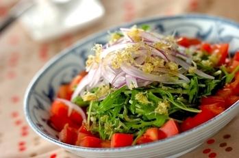 水菜とジャコのサラダ