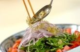水菜とジャコのサラダの作り方2