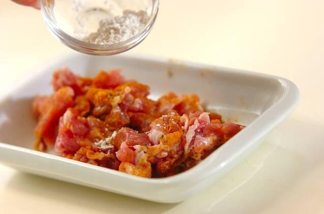 豚こまとジャガイモの豆乳スープの作り方の手順1
