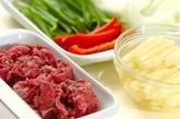 牛肉とジャガイモの中華カレー炒めの下準備1