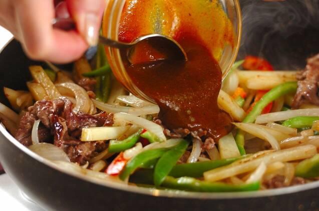 牛肉とジャガイモの中華カレー炒めの作り方の手順6