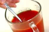 スタミナトマト素麺プレートの作り方1