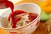 スタミナトマト素麺プレートの作り方4