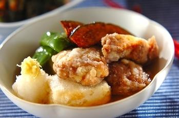 鶏肉と豆腐の揚げだし風
