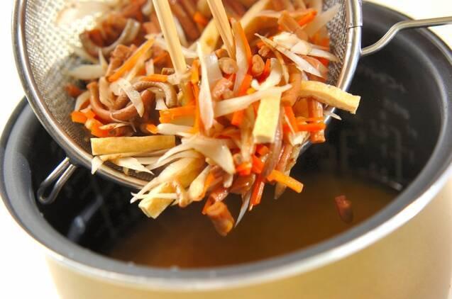 ゼンマイの炊き込みご飯の作り方の手順8