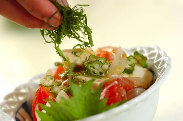 トマトとオクラのサラダの作り方の手順8