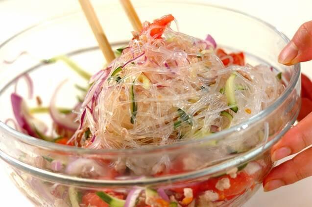 豚ひき肉のエスニックサラダの作り方の手順3