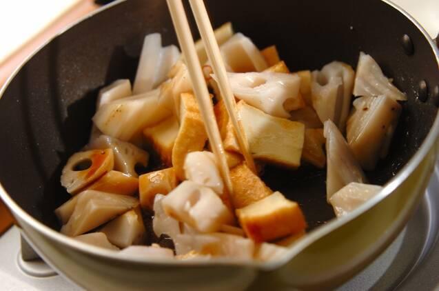レンコンのピリ辛炒めの作り方の手順3