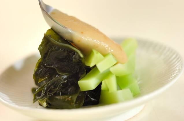 ブロッコリーの茎のヌタの作り方の手順5