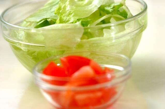 スナップエンドウのシーザーサラダの作り方の手順2