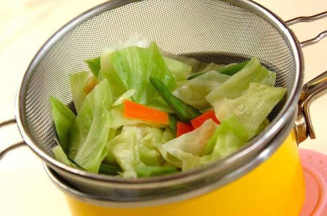 ゆでキャベツのゴマ酢和えの作り方の手順5