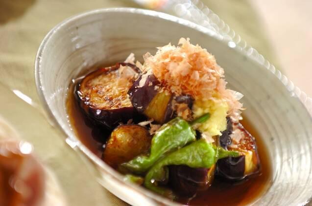 麺つゆで簡単!ナスとシシトウのサッと揚げ浸し