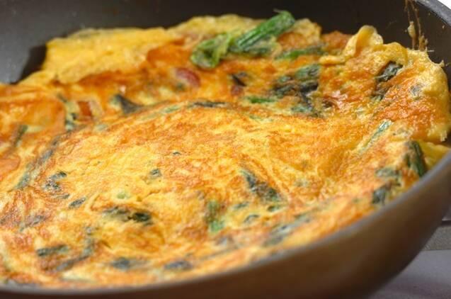 ホウレン草入り卵焼きの作り方の手順4