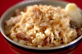 サンマとショウガの混ぜご飯