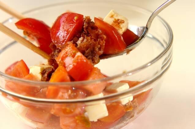 トマトとクリームチーズのサラダの作り方の手順3