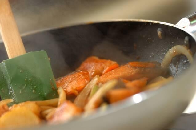 鮭と野菜のみそ炒めの作り方の手順8