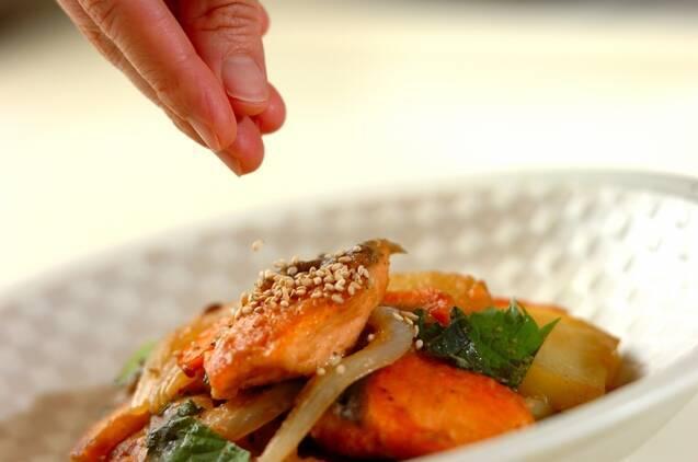 鮭と野菜のみそ炒めの作り方の手順9