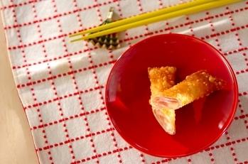 ハムとチーズの春巻き