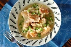 グリンピースと鶏肉の煮込み