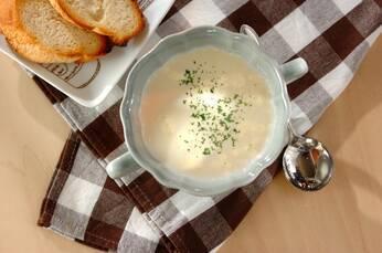 サツマイモのチーズスープ