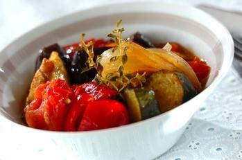 トマトと丸ナスのラタトゥユギリシャ風