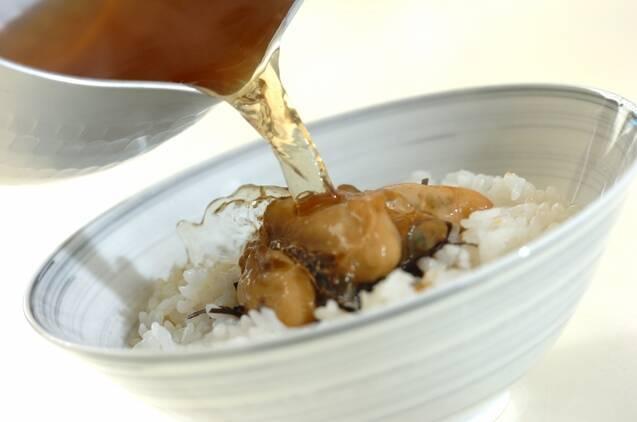 カキの佃煮だし茶漬けの作り方の手順7