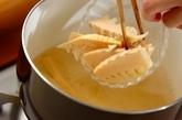 タケノコとアオサのみそ汁の作り方1