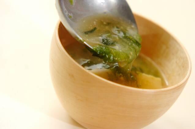 タケノコとアオサのみそ汁の作り方の手順4