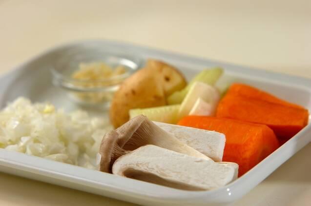 チキンのスープカレーの作り方の手順1