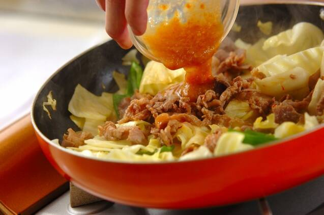 ご飯がすすむ!豚とキャベツのみそ炒めの作り方の手順7