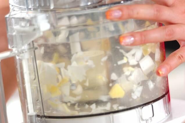 フードプロセッサーで簡単豆腐エビ玉の作り方の手順2