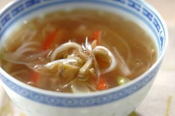 白ネギの中華スープ