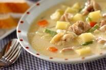 鶏肉の和風ミルクスープ煮