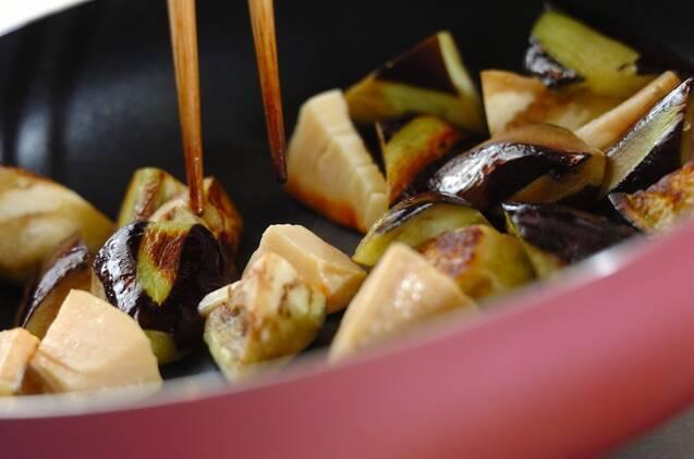 豚肉とナスの塩炒めの作り方の手順3