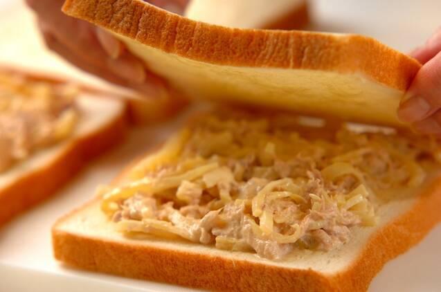 ツナとたくあんのサンドイッチの作り方の手順3