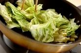 キャベツとツナのぺペロンチーノの作り方2