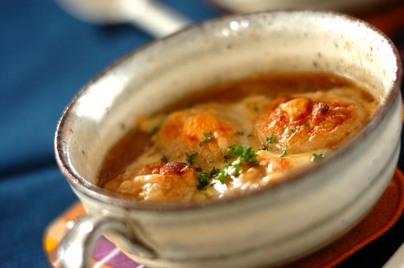 和風オニオングラタンスープ