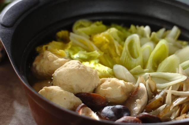 ふわふわ鶏団子と野菜の鍋