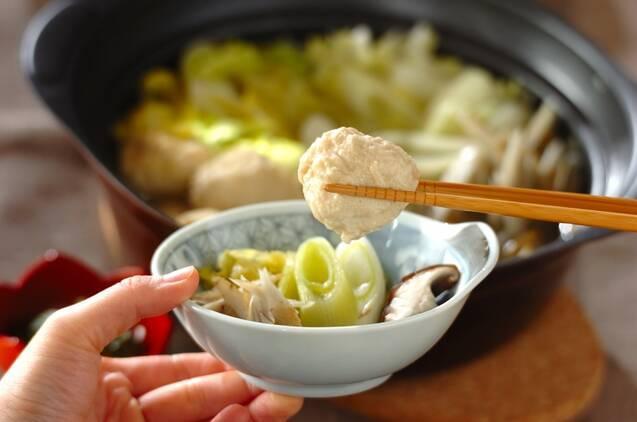 ふわふわ鶏団子と野菜の鍋の作り方の手順8