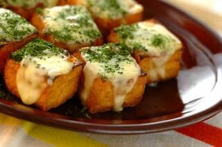 厚揚げのアンチョビチーズ焼き