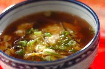 塩昆布と卵のスープ