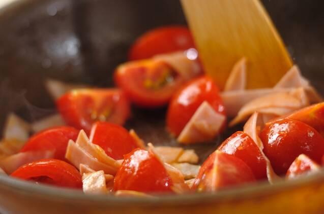ミディトマトのふんわり卵炒めの作り方の手順2