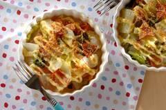 白菜とハムのマヨネーズ焼き
