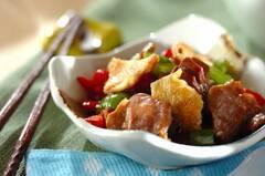 砂肝とピーマンの鶏油炒め
