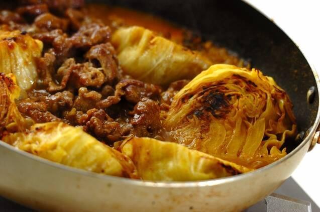 牛肉とキャベツのカレー風味煮込みの作り方の手順3