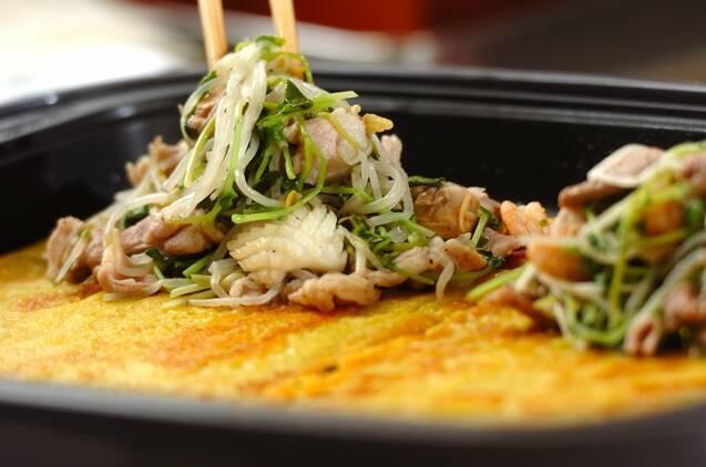 大きなバインセオ(ベトナム風お好み焼き)の作り方の手順5